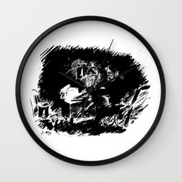 Edouard Manet - The raven by Poe 5 Wall Clock