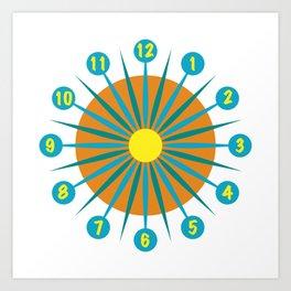 Mod Clock 3 Art Print