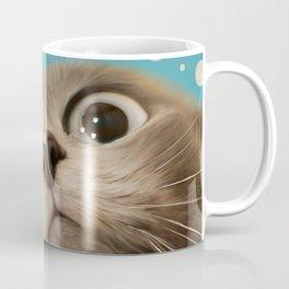 """Fun Kitty and Polka dots"" Coffee Mug"