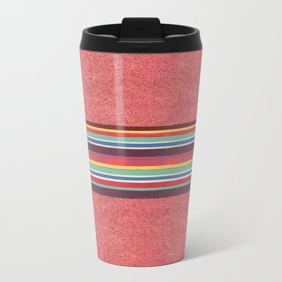 Strip Metal Travel Mug