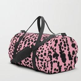 Pink and Black Dalmatian Duffle Bag