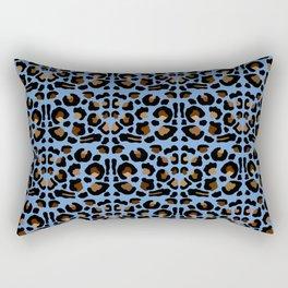 Animal Print Light Blue Rectangular Pillow