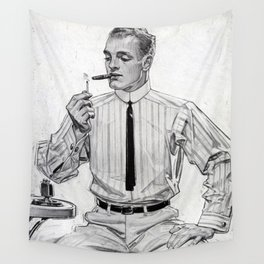 Vintage poster - Arrow Collar Wall Tapestry