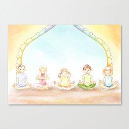 Children Meditation Canvas Print