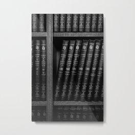 On a Shelf B&W Metal Print