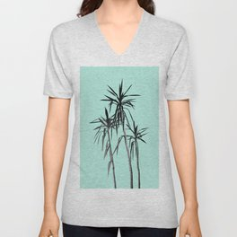 Palm Trees - Mint Cali Summer Vibes #1 #decor #art #society6 Unisex V-Neck