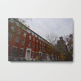 NYC Buildings in the Fall Metal Print