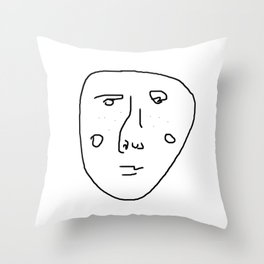 The freckled man Throw Pillow