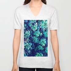 Plants of Blue And Green Unisex V-Neck