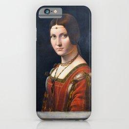 """Leonardo da Vinci """"La belle ferronnière"""" iPhone Case"""