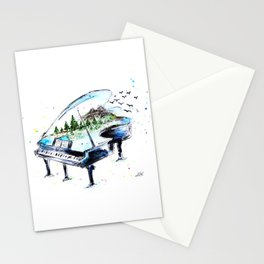 Piano with nature Stationery Cards