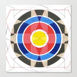 Fractured Target Canvas Print
