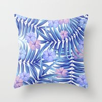 hawaiian Throw Pillows featuring Hawaiian Pattern by Marta Olga Klara
