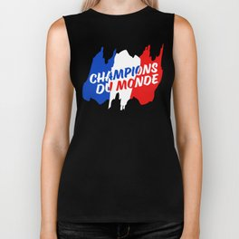 World Champions French Soccer Football Biker Tank