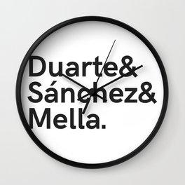 Duarte&Sanchez&Mella Wall Clock