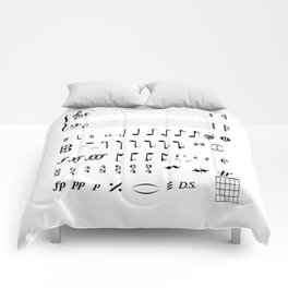 Musical Notation Comforters