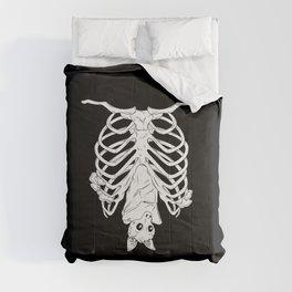 Cute Bat in Ribcage Comforters