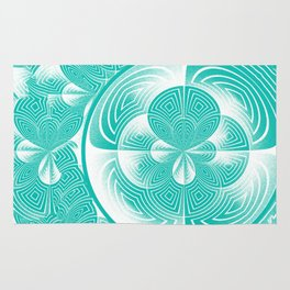 Light turquoise abstract Rug