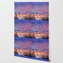 LOOK OUTSIDE - Flowers & Sunset #1 #art #society6 Wallpaper