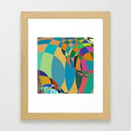 circle parts Framed Art Print