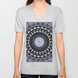 openwork lace Unisex V-Neck