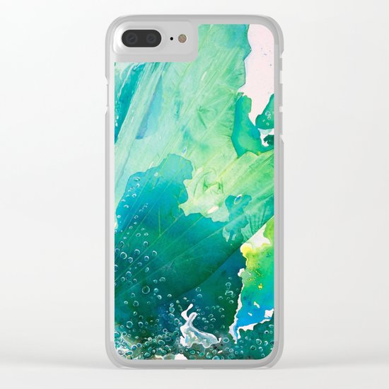 Environmental Importance, Deep Sea Water Bubbles Clear iPhone Case