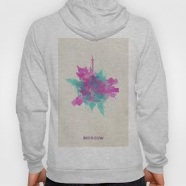 Moscow, Russia Colorful Skyround / Skyline Watercolor Painting Hoody