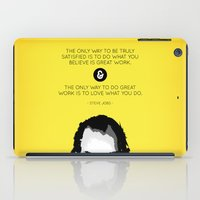 steve jobs iPad Cases featuring Steve Jobs Quote by yplim