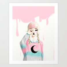 Brink of disaster Art Print