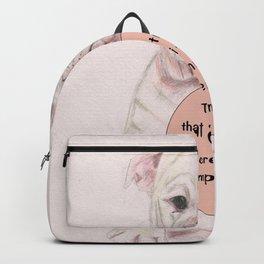 Bulldog humour Backpack