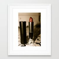 lipstick Framed Art Prints featuring Lipstick  by ColleenE
