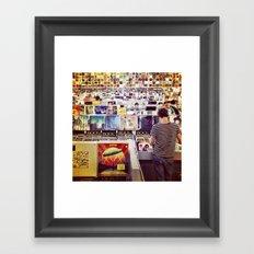 Record Store Framed Art Print