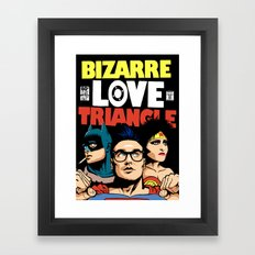 Bizarre Love Triangle: The Post-Punk Edition Framed Art Print