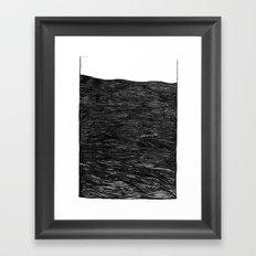 water at night Framed Art Print