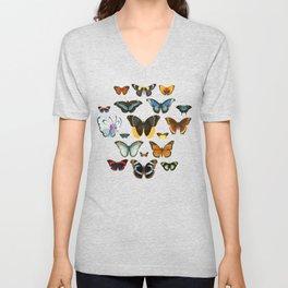 Entomology Vintage Butterfly Unisex V-Neck