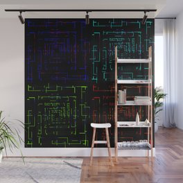 Banners with electronic cards. Wall Mural