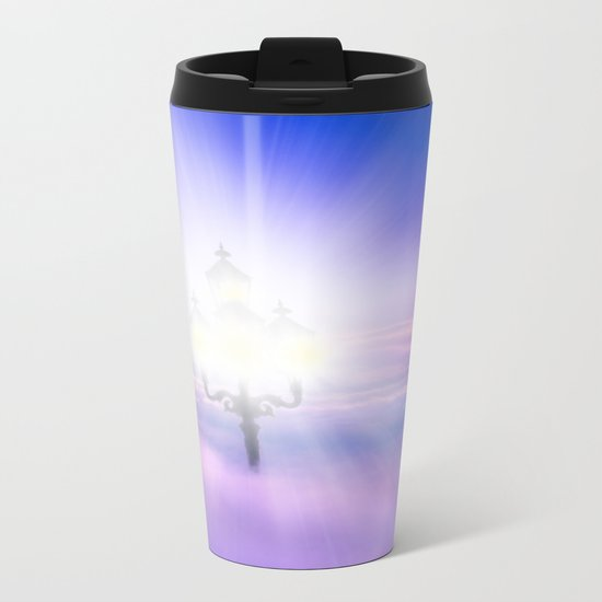 Lights Above the Clouds Metal Travel Mug