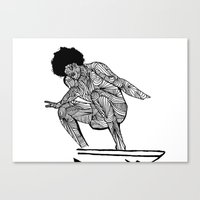 70s Canvas Prints featuring 70s surfer by terezamc.