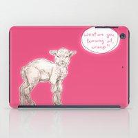 sassy iPad Cases featuring sassy lamb by AnnaToman