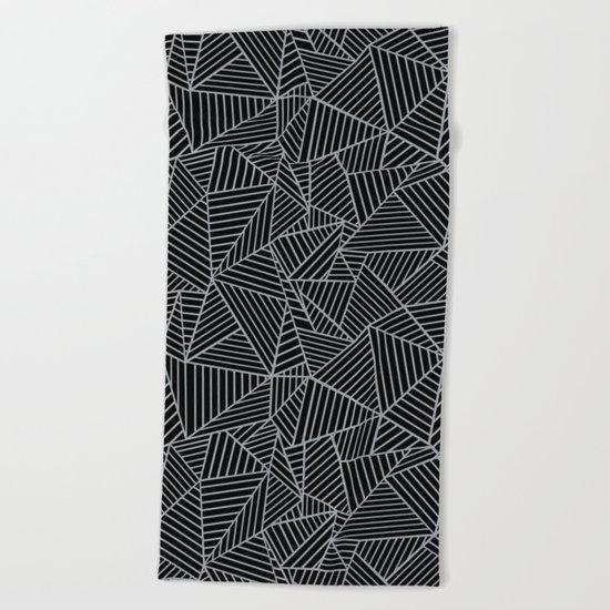 Ab 2 R Black and Grey Beach Towel