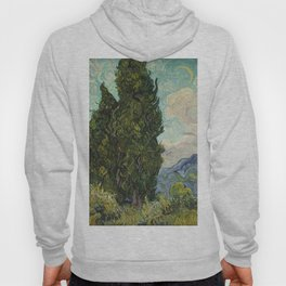Cypresses by Vincent van Gogh Hoody