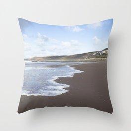 Seaside Town Throw Pillow