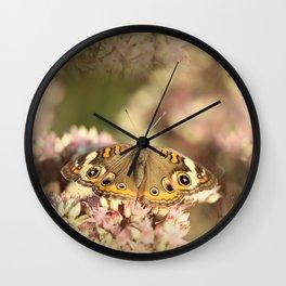 Buckeye Butterfly Macro Wall Clock