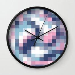 Mat Map Squares Wall Clock
