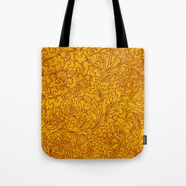 Vintage Red Yellow Floral Ornament Tote Bag