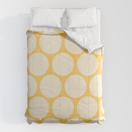 yellow and white polka dots Comforters