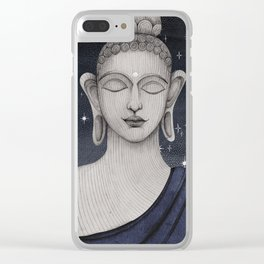 Buddha with stars Clear iPhone Case