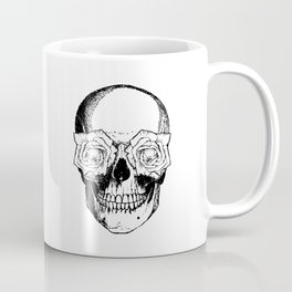 Skull and Roses | Black and White Coffee Mug