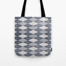 Modern argyle Tote Bag