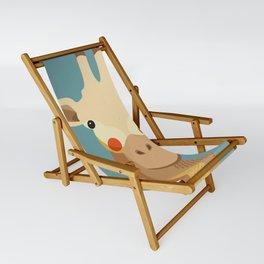 Giraffe, Animal Portrait Sling Chair